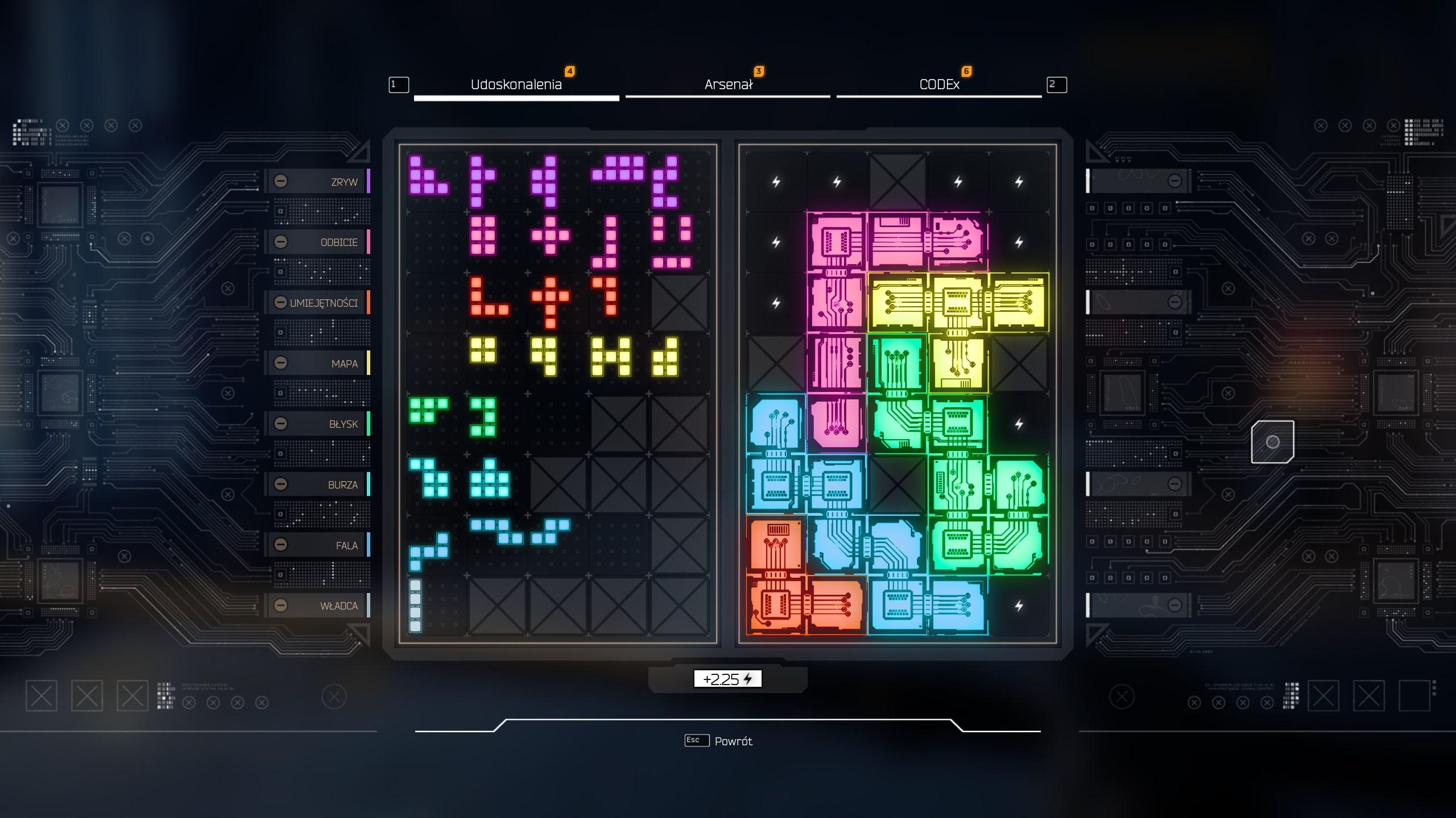 Ghostrunner recenzja – system rozwoju przypomina układanie Tetrisa