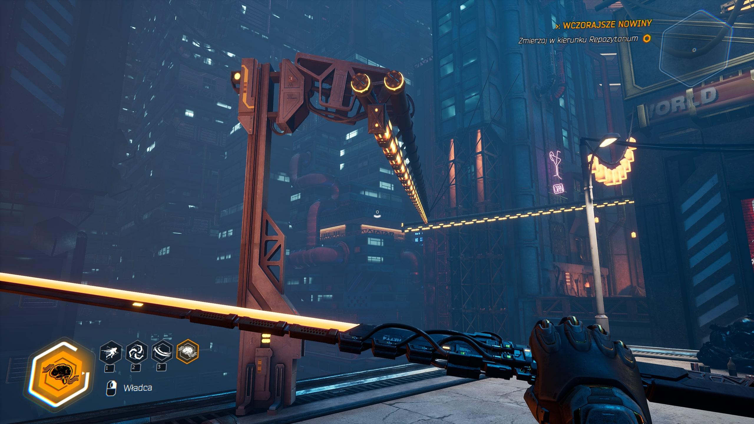 Ghostrunner recenzja – screenshot zgry